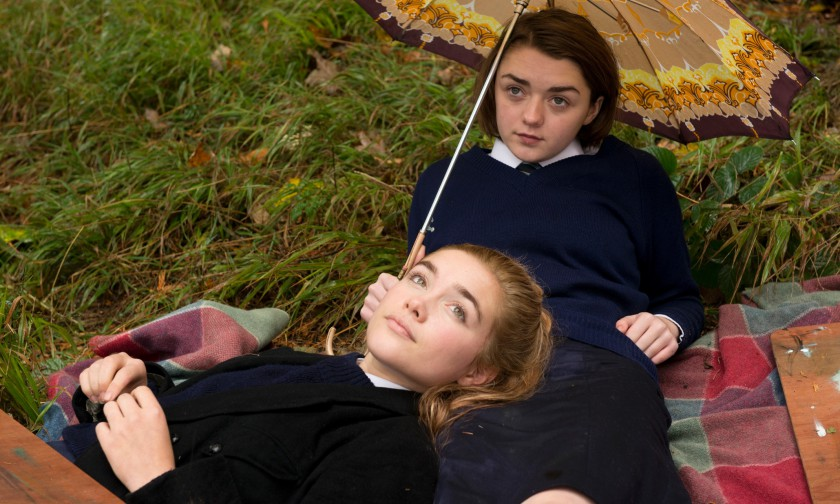 Florence Pugh  and Maisie Williams in THE FALLING (dir. Carol Morley)