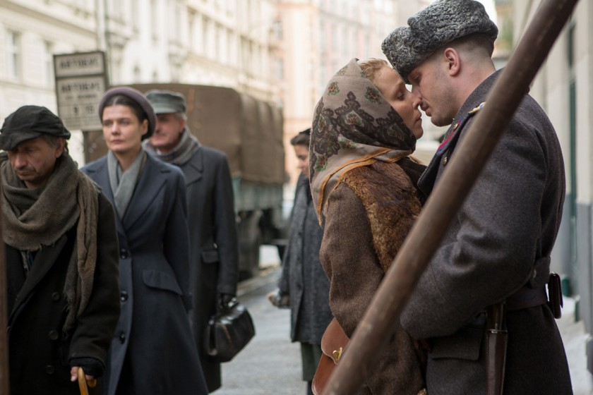 Tom Hardy and Noomi Rapace in 'Child44'