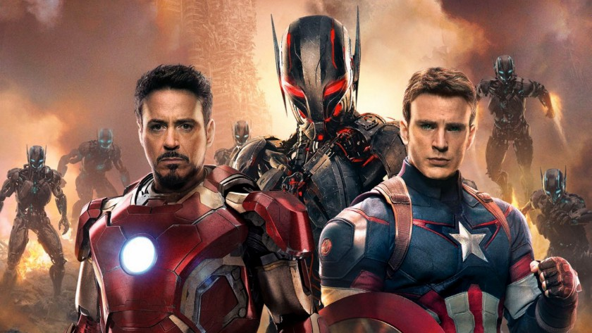 Iron Man, Ultron & Captain American in 'Avengers: Age Of Ultron'