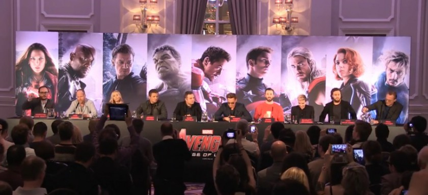Avengers: Age Of Ultron cast at the London Press Conference