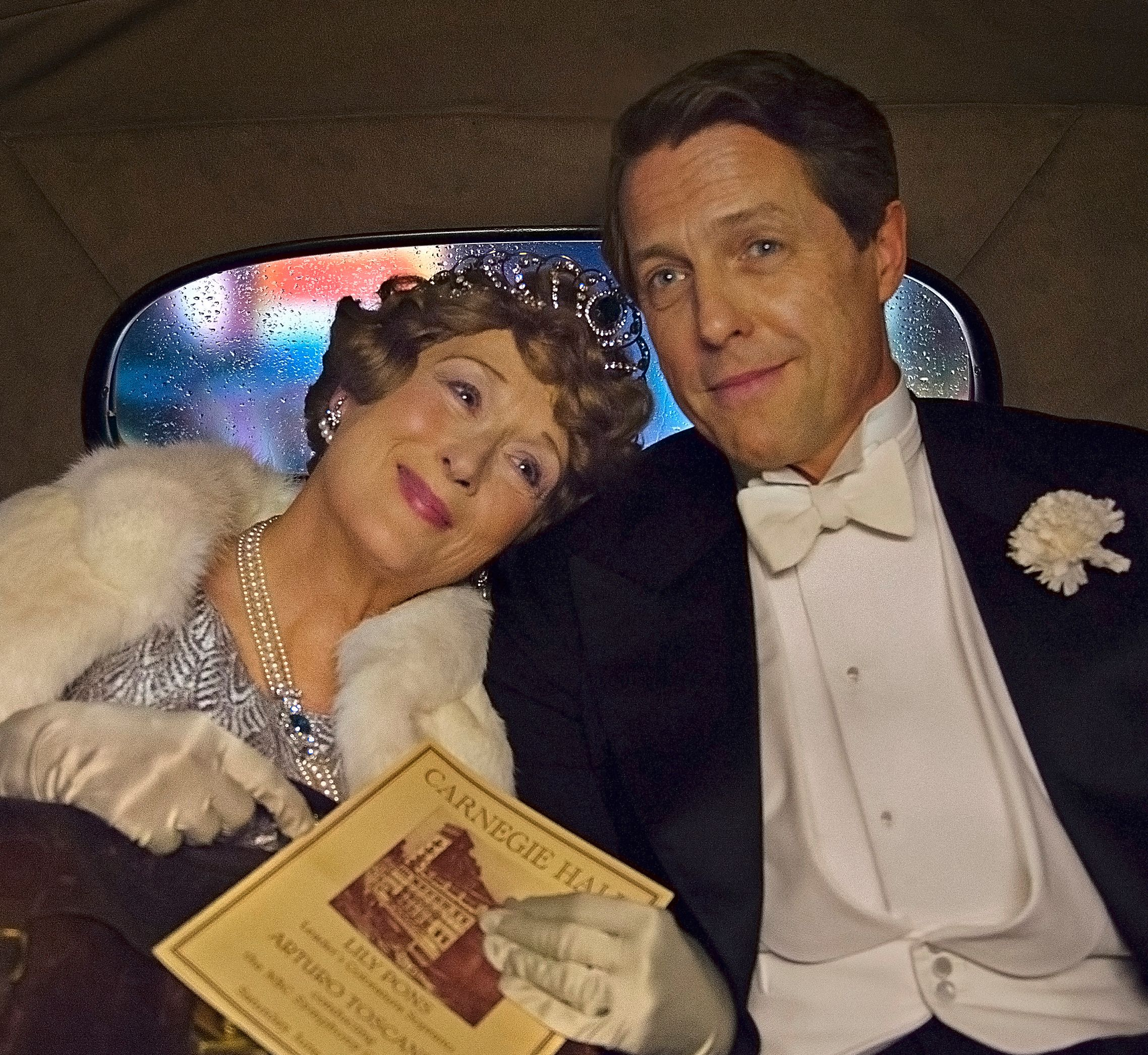 First still of Meryl Streep and Hugh Grant in Florence Foster Jenkins