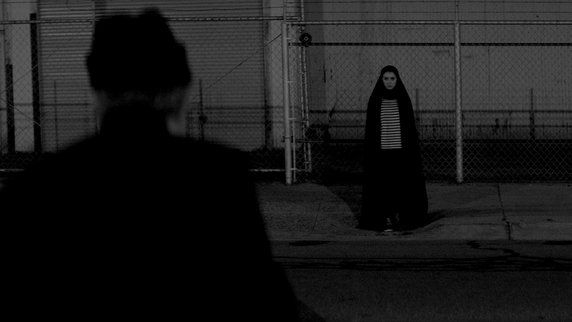 A scene from A GIRL WALKS HOME ALONE AT NIGHT (2014), the first Iranian Vampire Western