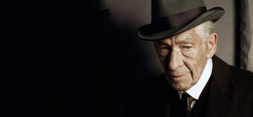 "In this undated photo released by See-Saw Films, British actor Ian McKellen poses for a photograph on the first day of filming for ""Mr. Homes"", in which he portrays a 93-year-old Sherlock Holmes, London. Filming has begun on ""Mr. Holmes,"" which imagines the famous sleuth in his old age as a retiree living in seclusion by the sea. The movie, based on Mitch Cullin's novel ""A Slight Trick of the Mind,"" sees the detective struggling with a failing memory and revisiting one final unresolved mystery. (AP Photo/Agatha A Nitecka, See-Saw Films)"