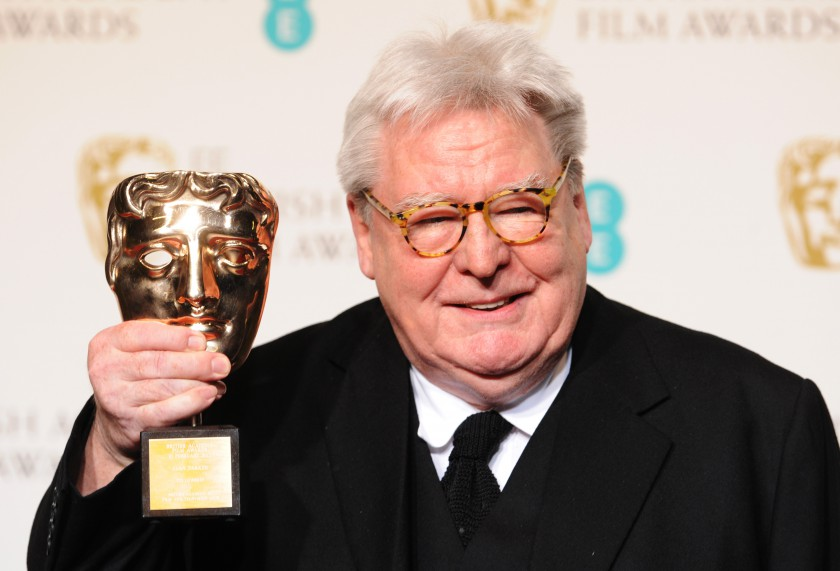 LONDON, ENGLAND - FEBRUARY 10:  Sir Alan Parker, winner of the Fellowship award, poses in the press room at the EE British Academy Film Awards at The Royal Opera House on February 10, 2013 in London, England.  (Photo by Stuart Wilson/Getty Images)