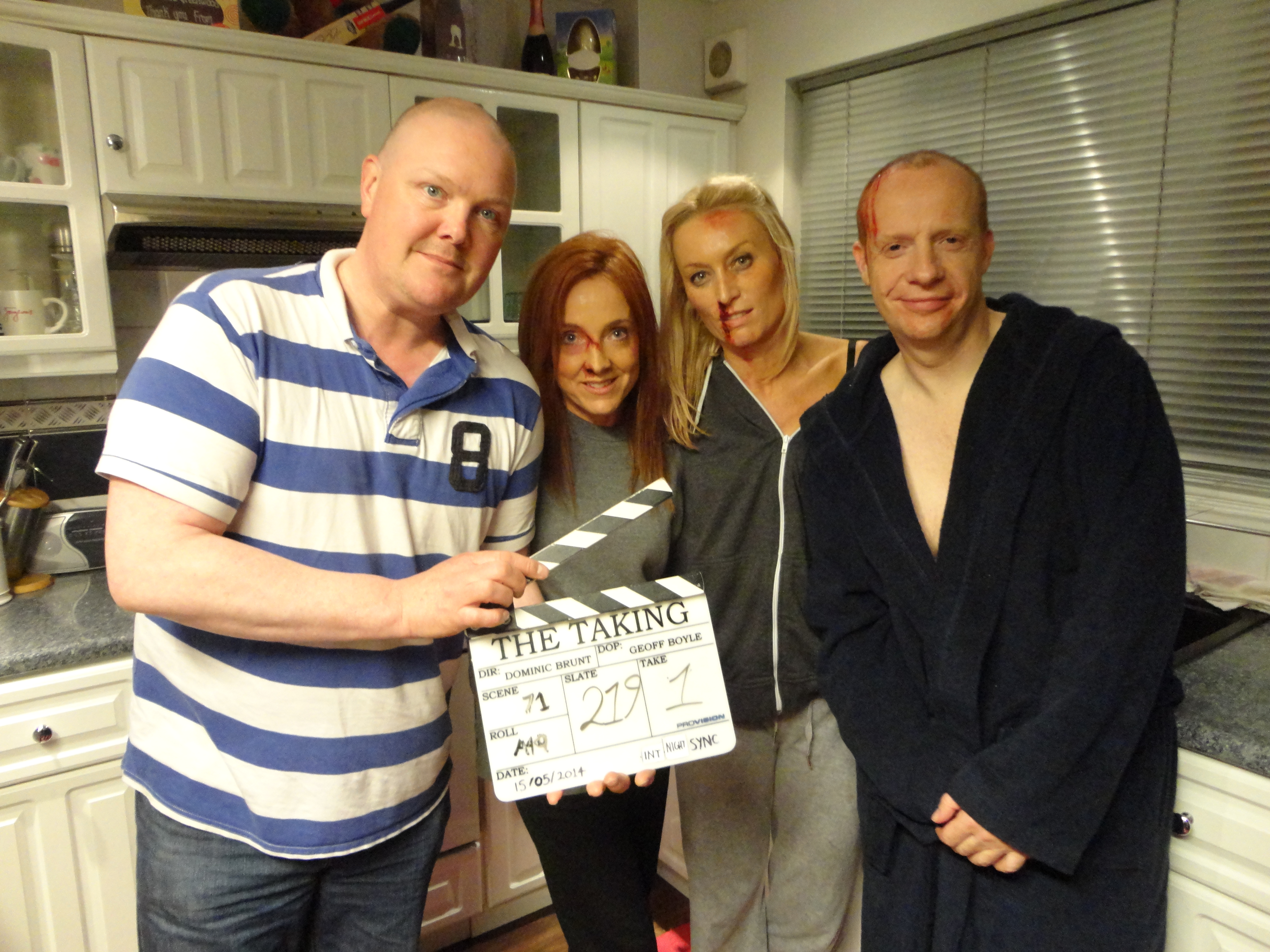 Dominic Brunt directs the cast of BAIT