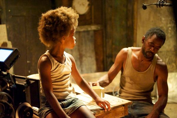 "Hushpuppy (Quvenzhane Wallis) and her Daddy, Wink (Dwight Henry), live in a fictional bayou called Bathtub in ""Beasts of the Southern Wild."" Provided by Fox Searchlight"