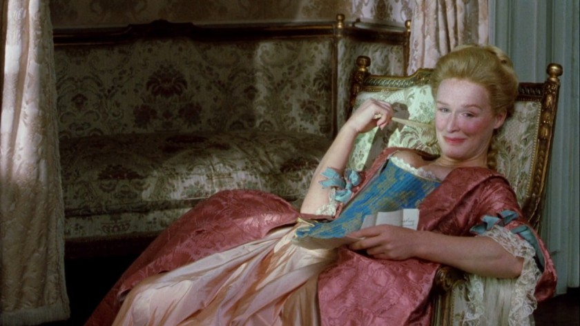 Glen Close as The Marquise Isabelle de Merteuil in Dangerous Liaisons