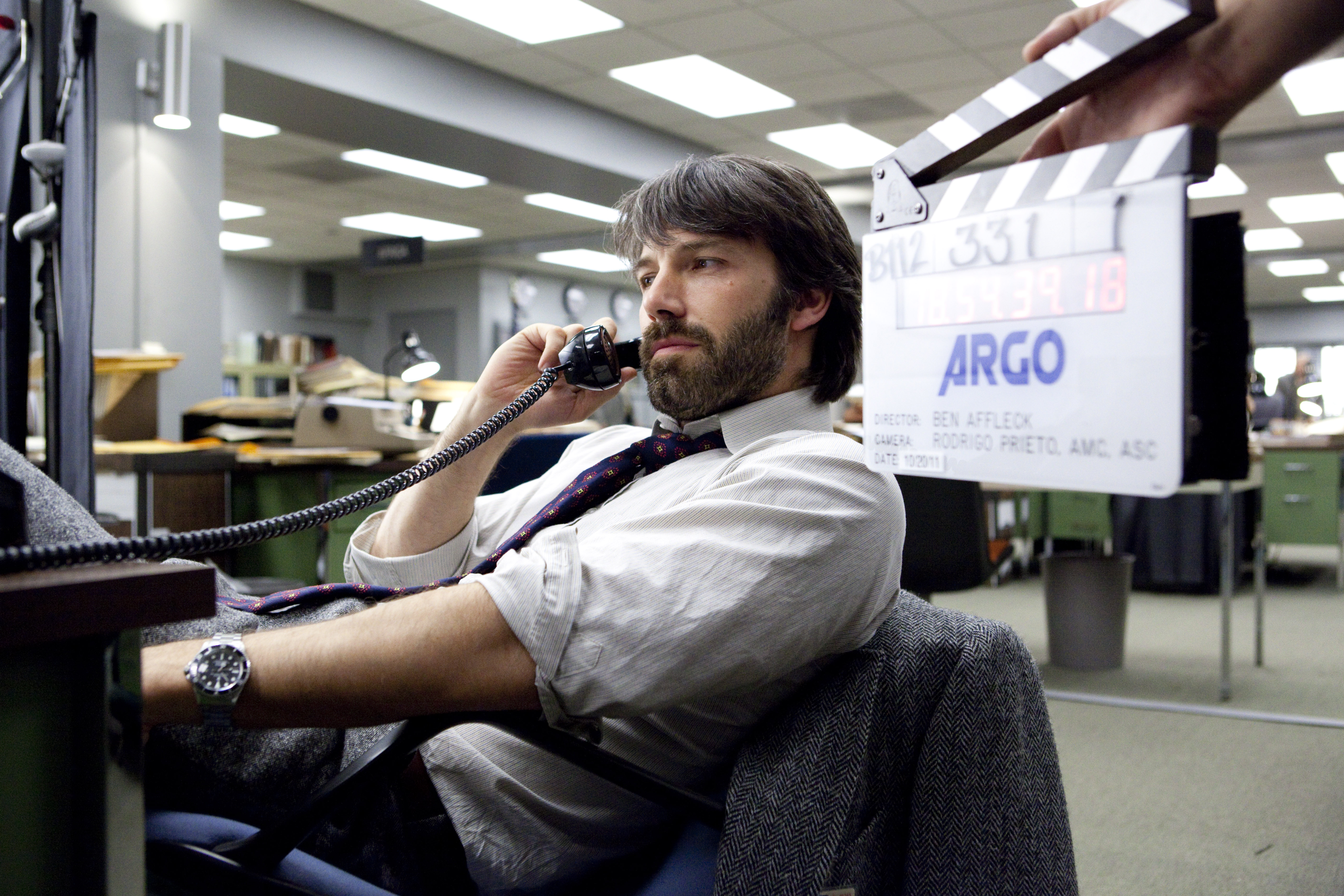 """BEN AFFLECK as Tony Mendez on the set of """"ARGO,"""" a presentation of Warner Bros. Pictures in association with GK Films, to be distributed by Warner Bros. Pictures."""