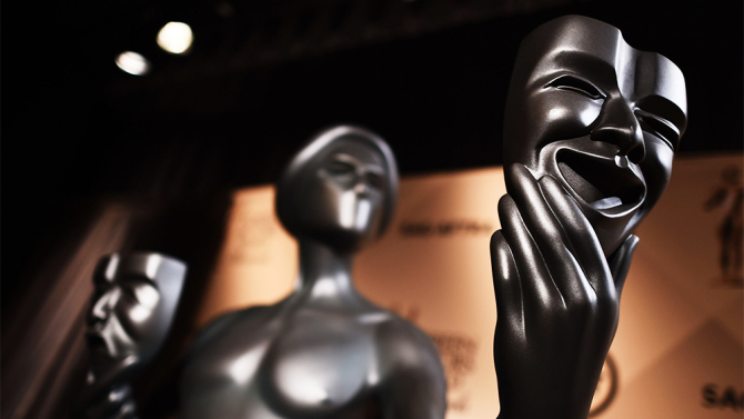 Mandatory Credit: Photo by Buckner/Variety/REX Shutterstock (5490254b) Screen Actors Guild Awards statue 22nd Annual Screen Actors Guild Awards Nominations, Los Angeles, America - 09 Dec 2015